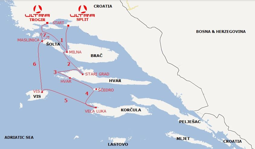 recomended sailing routes Beneteau yacht charter fleet in Croatia