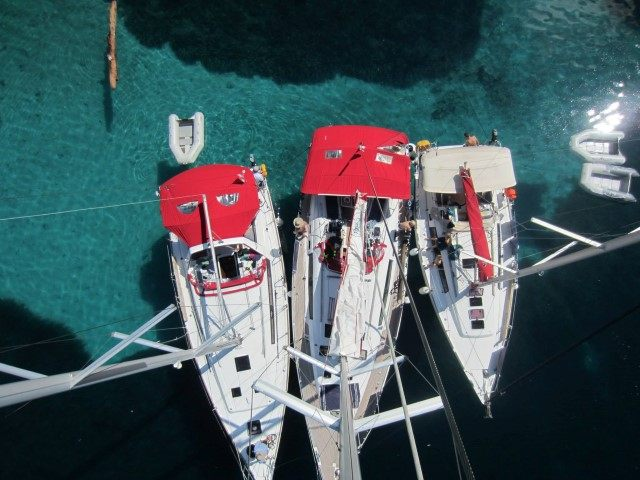 moored ultra sailing boats in Croatia