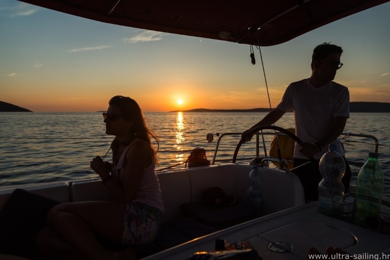 Sunset sailing Split Croatia
